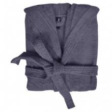 500 g/m² Bata de algodón unisex de color gris...