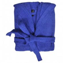 500 g/m² Bata de algodón unisex de color azul,...
