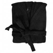 500 g/m² Bata de algodón unisex de color negro,...