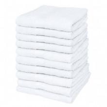 Toallas cortesía 10 uds algodón 500 gsm 30x50...
