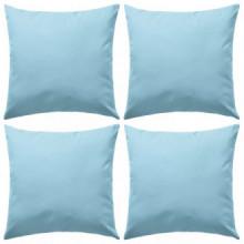 Cojines para exteriores 45x45 azul claro 4...