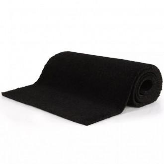 Felpudo de fibra de coco negro 17 mm 100x300 Vida XL