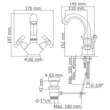 Monoblock lavabo c/alto PARMA