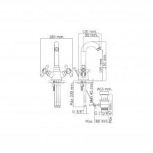 Monoblock lavabo níquel c/alto PINTA
