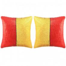 Set de cojines con lentejuelas 2 uds 45x45 rojo...