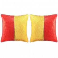 Set de cojines con lentejuelas 2 uds 60x60 rojo...