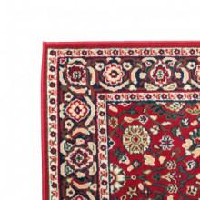 Alfombra oriental de estampado persa rojo/beige...