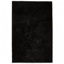 Alfombra shaggy de pelo 80x150 negra Vida XL
