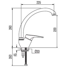 Grifo de fregadero vertical Pol TRES