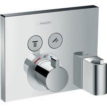 Grifo termostático para dos funciones cromo ShowerSelect Hansgrohe