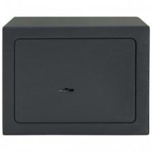 Caja fuertemecánica de acero gris oscuro...