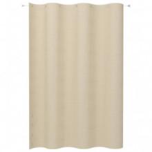 Toldo cortina para balcón PEAD color crema...