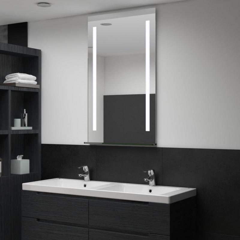 Espejo de pared de baño con LED y estante 60x100cm Vida XL ...