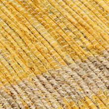 Alfombra hecha amano de yute amarilla 160x230cm...