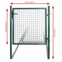 Puerta de valla de acero con recubrimiento en...