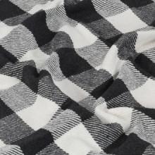 Manta a cuadros de algodón gris antracita...