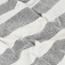 Manta a rayas de algodón gris antracita...
