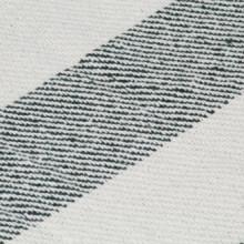 Manta a rayas de algodón verde oscuro 125x150cm...