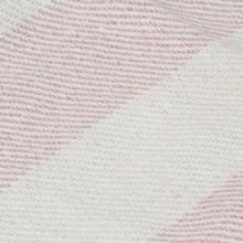 Manta a rayas de algodón rosa envejecido...