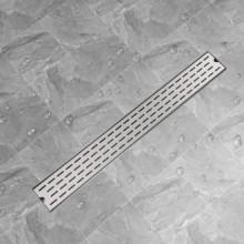 Desagüe lineal de ducha líneas 930x140mm acero inoxidable Vida XL