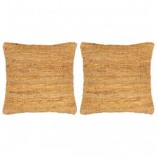 Cojines Chindi 2 unidades cuero y algodón...