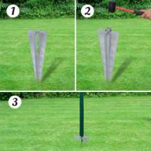Set de cerca de alambre con anclas de punta...