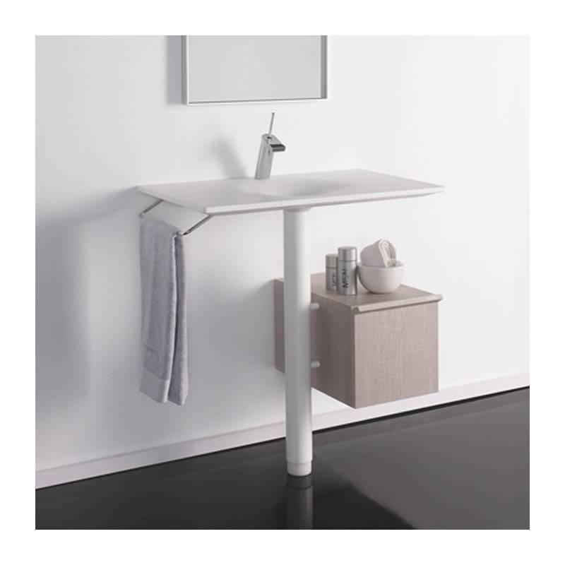 Lavabo con mueble bengala materiales de f brica for Mueble lavabo pedestal