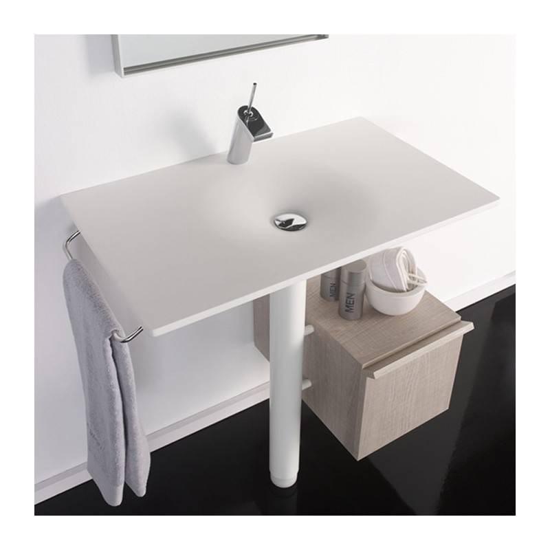 Lavabo con mueble bengala materiales de f brica - Mueble lavabo pedestal ...