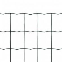 Set de euro valla acero verde 10x1m Vida XL