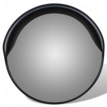 Espejo de tráfico convexo plástico negro 30cm...