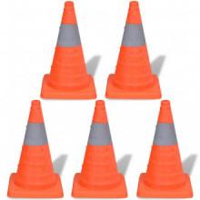 Conos de tráfico desplegables 42cm (5 unidades)...