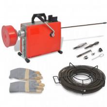 Máquina para limpieza de tuberías 250 W 15mx16mm 4,5mx9,5mm Vida XL