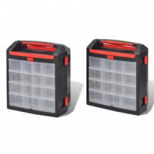 Caja organizador de herramientas, 2 unidades...