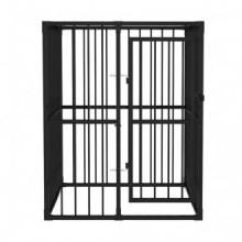 Perrera jaula de exterior 1,2x1,2x1,5m Vida XL