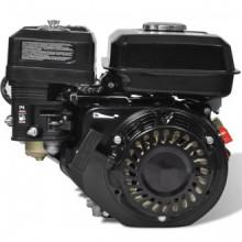 Motor de gasolina negro de 6,5 HP y 4,8 kW Vida XL