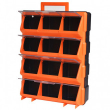 Caja de herramientas de pared portátil con 12...