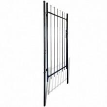 Puerta para valla con puntas de lanza 100x150cm...