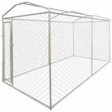 Perrera jaula de exterior con toldo 4x2x2,4m...