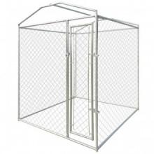 Perrera jaula de exterior con toldo 2x2x2,4m...