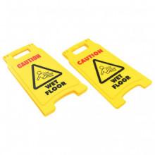 Señales de precaución con el suelomojado 2 uds...