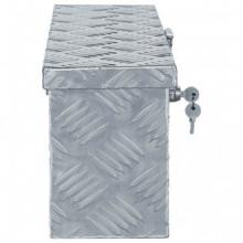 Caja de aluminio 48,5x14x20cm plateada Vida XL