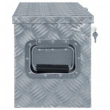 Caja de aluminio 61,5x26,5x30cm plateada Vida XL