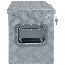 Caja de aluminio 80,5x22x22cm plateada Vida XL