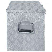 Caja de aluminio 110,5x38,5x40cm plateada Vida XL