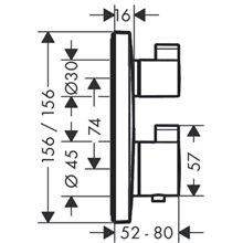 Grifo termostático para 2 funciones cromo Ecostat Square Hansgrohe