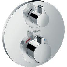 Grifo termostático para 2 funciones cromo Ecostat S Hansgrohe