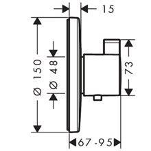 Grifo termostático de gran caudal cromo Ecostat S Hansgrohe