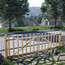 Puerta doble para valla 300x100 cm madera de...