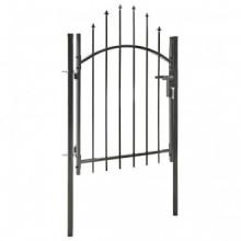 Puerta de jardín de acero negro 1x1,5 m Vida XL