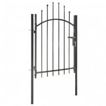 Puerta de jardín de acero negro 1x1,75 m Vida XL